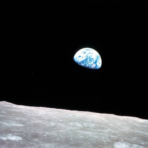 1968 photo of the Earth taken from the Moon by William Anders.