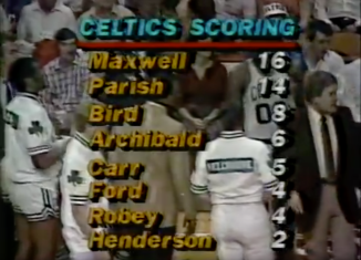 Celtics scoring leaders at the half