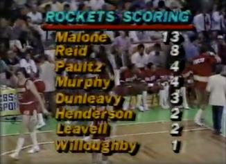 Rockets scoring leaders at the half